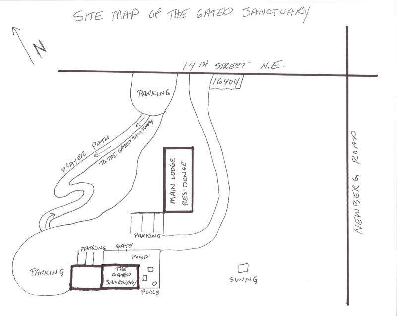 the gated sanctuary centre for healing site map Salvation Diagram please take the driveway around the main lodge to find the the gated sanctuary nestled in the trees behind a bamboo fence parking is available around the